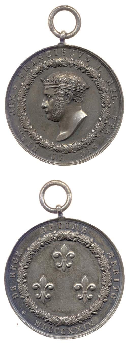 Francesco I (1825-30), Ordine