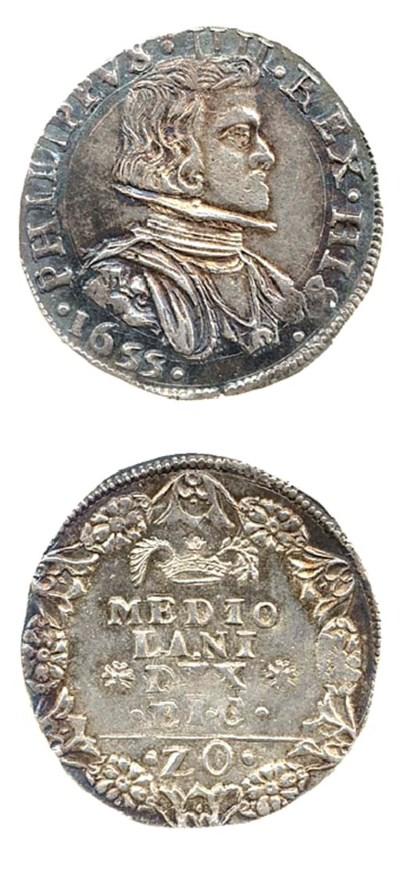 20-Soldi, 1655, 4.939g., busto