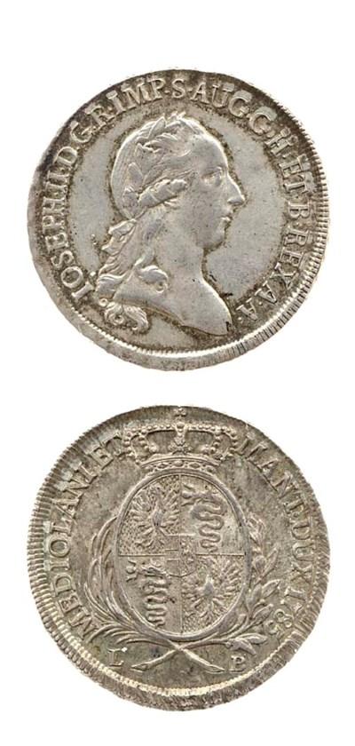 Mezzo Scudo, 1785 (CNI.34; Cr.