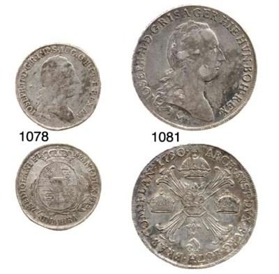 Lira, 1785 (CNI.35; Cr.5/E; Gn