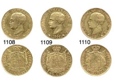 40-Lire, 1808, M, l'inscrizion