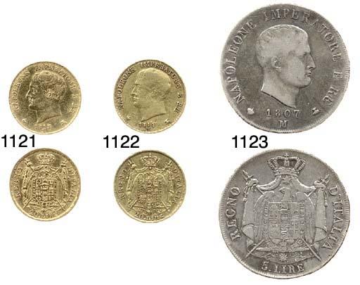 5-Lire. 1807, testa a destra,