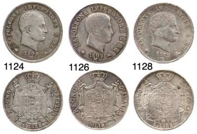 5-Lire, 1809, motto in rilievo