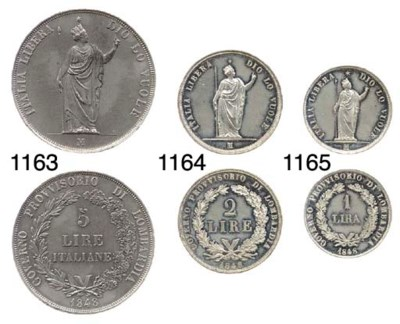 2-Lira, 1848, prova in stagno,