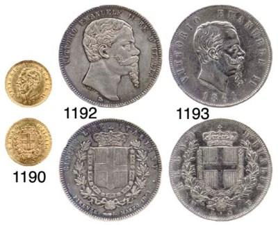 5-Lire, AR, 1861, Firenze, tip