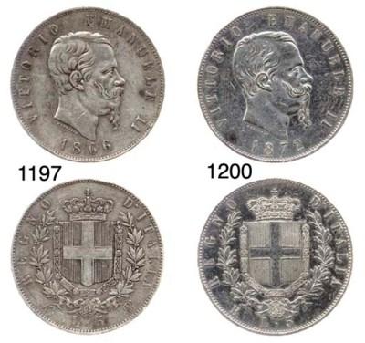 5-Lire, 1872, Roma (Pag.495),
