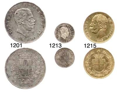 5-Lire, 1873, Roma (Pag.497),