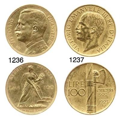 100-Lire, 1912, rov. aratrice