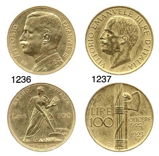 100-Lire, 1923, rov. fascio (P
