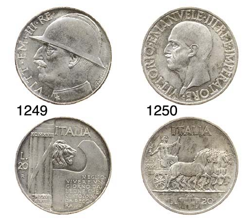20-Lire, 1936 XIV, Impero, rov