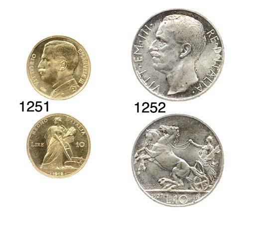 10-Lire, 1927, AR, rov. biga (