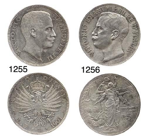 5-Lire, 1901, testa nuda a d.,