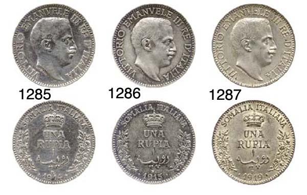 1-Rupia (3), 1912, 1913, 1914