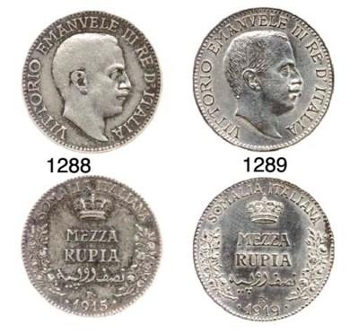 ½-Rupia (3), 1910, 1913, 1915