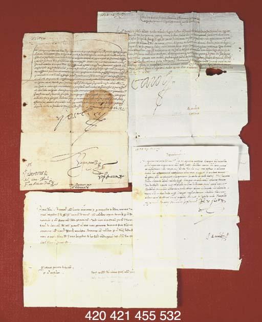 CARLO V. Lettera firmata (Yo e