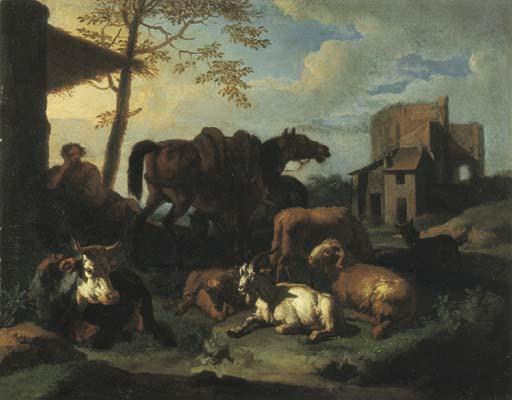 Cerchia di Pieter van Bloemen,