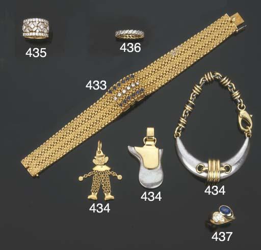 Fedina in oro e diamanti