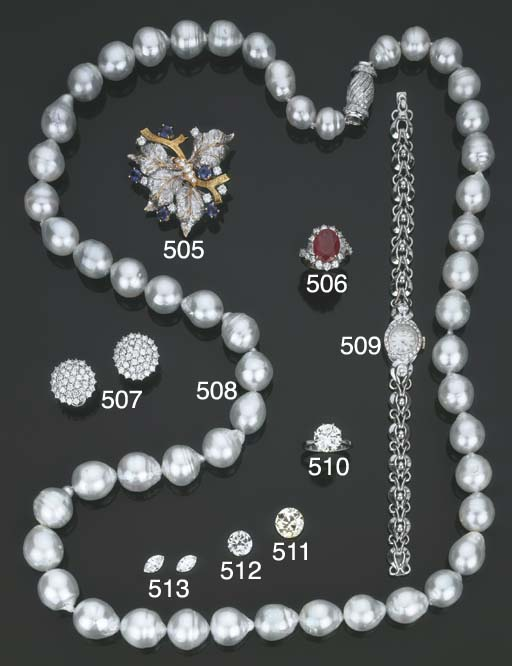 Lunga collana in perle barocch