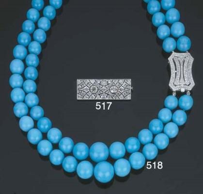 Collana in turchesi e diamanti
