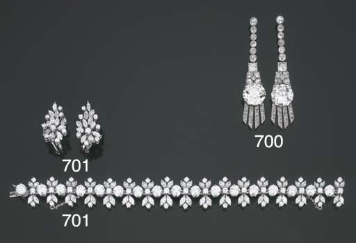 Collana in platino e diamanti