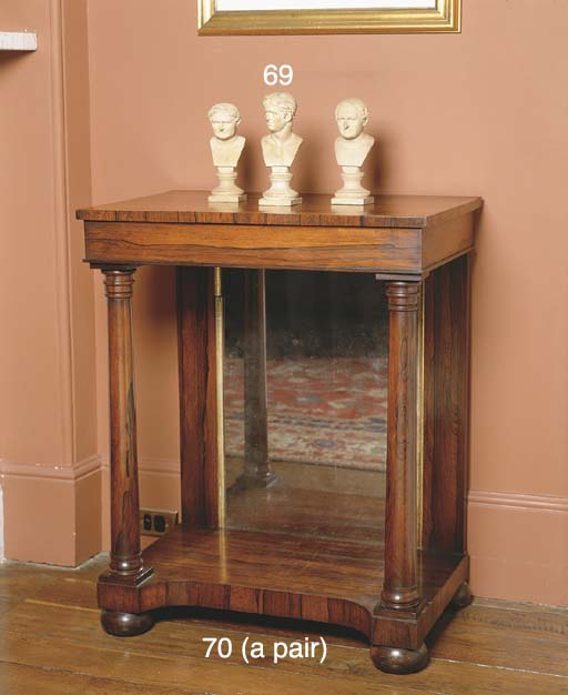 A PAIR OF WILLIAM IV ROSEWOOD