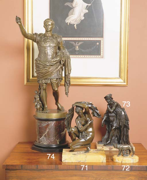 A NINETEENTH CENTURY BRONZE OF