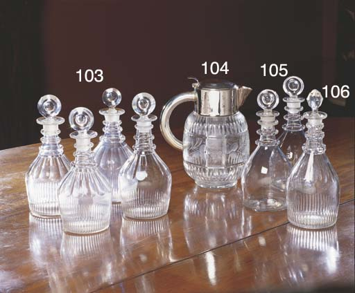 A PAIR OF GEORGE III DECANTERS