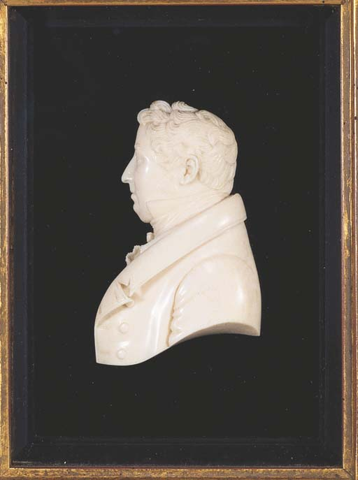* TWO GEORGE IV IVORY PORTRAIT
