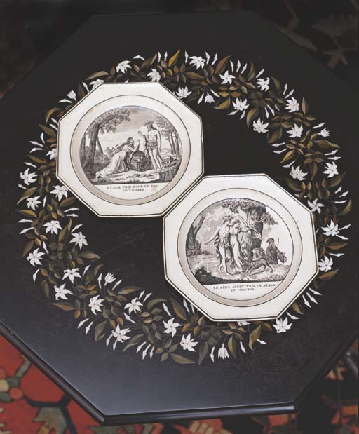 A SET OF FOUR FRENCH OCTAGONAL