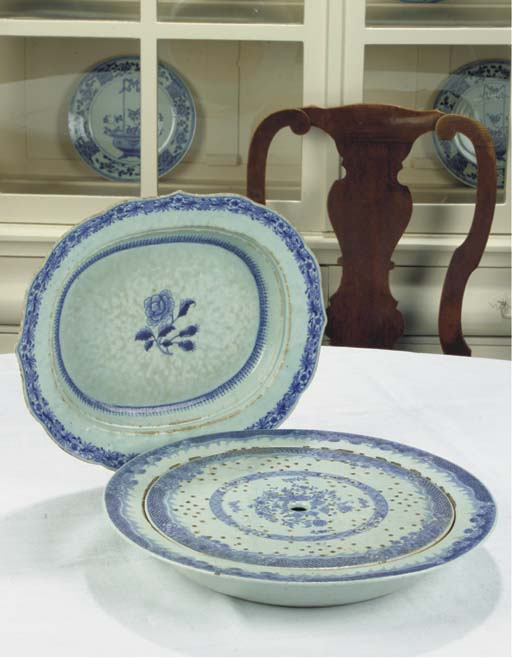 (2) A Chinese blue and white f