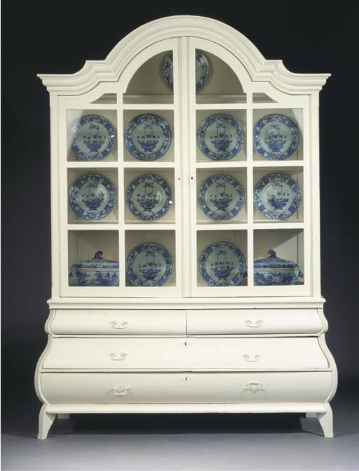 A Dutch white-painted display