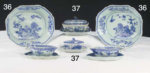(2) Two chinese blue and white