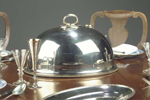 A Victorian silver-plated cloc