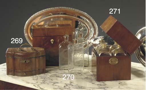 A Silver-mounted mahogany cell