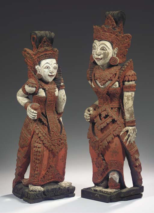 (2) a pair of balinese polychr