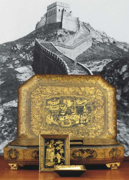 A Chinese Canton lacquer games