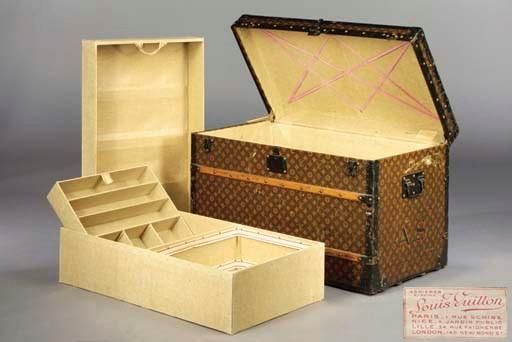 A Louis Vuitton trunk
