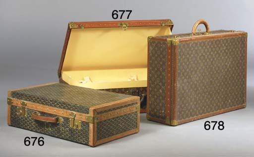 A Goyard suitcase