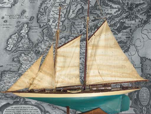 A fully rigged model of a Yach