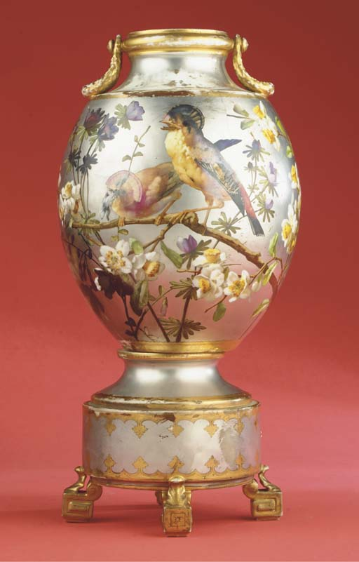 A Paris porcelain platinum-gro