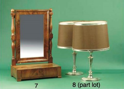 (4) A pair of English plated t