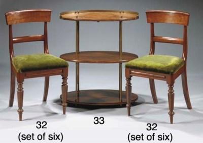 An English mahogany three-tier
