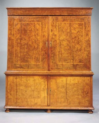 A Dutch burr-walnut and walnut