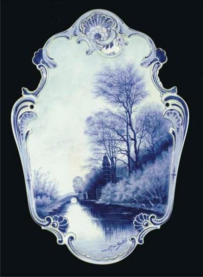 A Dutch Delft blue and white l