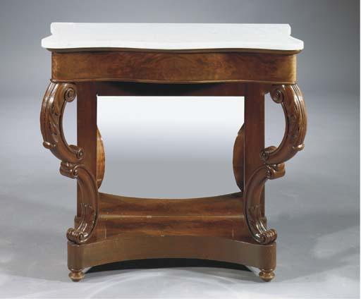 A Dutch mahogany console table