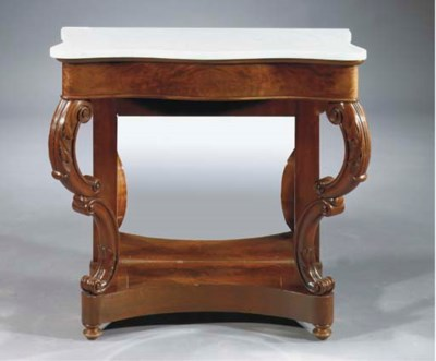 A Dutch mahogany console table