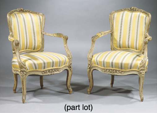 (4) A set of three parcel-gilt