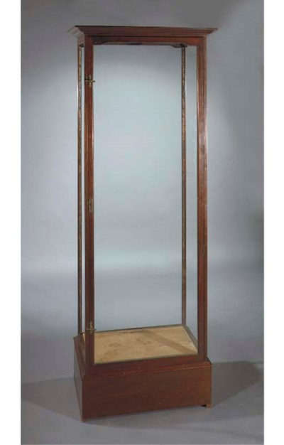 A mahogany display case
