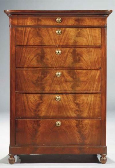 A Dutch mahogany chiffoniere
