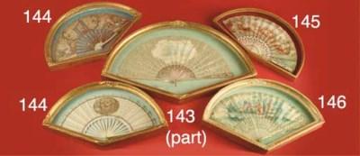 A bone, silvered and gilt fan